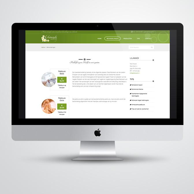 website voor pedicure Lilawadi