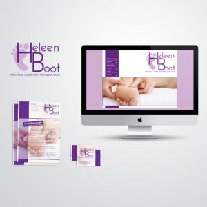 Huisstijl voor pedicure Heleen Boot, inclusief logo, visitekaart, flyer en website